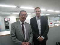 Mr. VanderKlippe (right, with FPCJ President Akasaka)