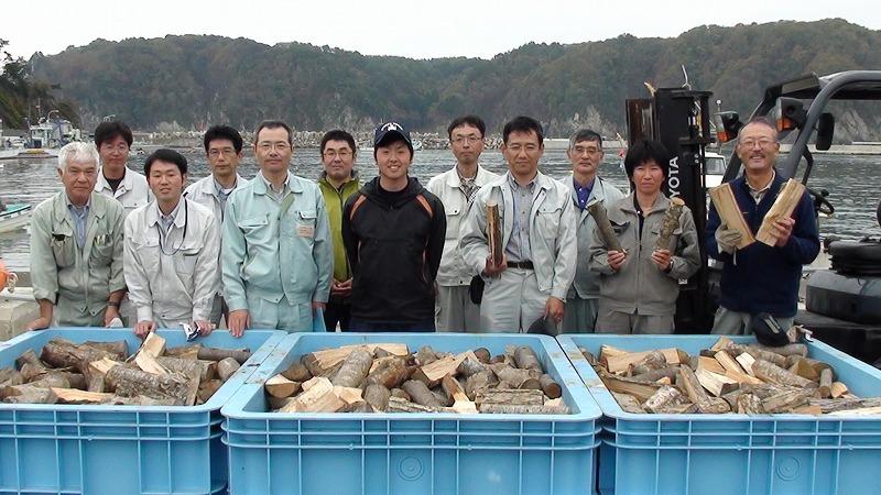 取組に携わった田老町漁協の職員及び県の職員