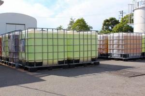 これからリサイクルされる回収した使用済みヨウ素