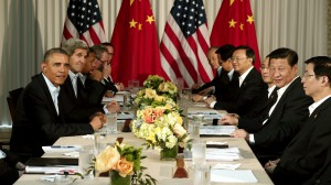 U.S. President Barack Obama meets Chinese President Xi Jinping in California