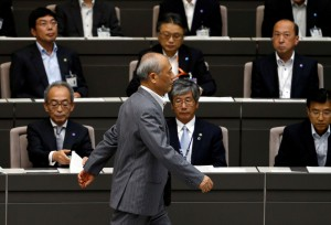 Masuzoe makes appearance at Tokyo metropolitan government assembly session after handing in his resignation, in Tokyo