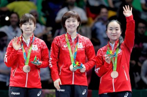 Women's Team Table Tennis Gold match at Rio 2016 Olympics