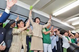 Yuriko Koike wins Tokyo gubernatorial election