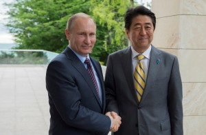 Russian President Putin meets Japanese Prime Minister Abe in Sochi