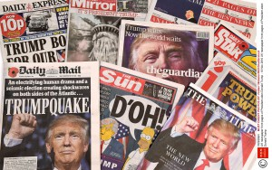 UK newspaper front pages of President-elect Donald Trump - 10 Nov 2016