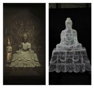 仏像現物と3D